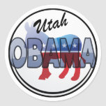 Diseño de Utah Obama Demócrata Pegatina