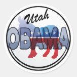 Diseño de Utah Obama Demócrata Pegatina Redonda