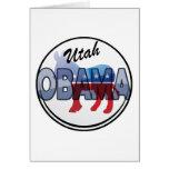 Diseño de Utah Obama Demócrata Tarjeta