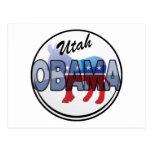Diseño de Utah Obama Demócrata Tarjetas Postales