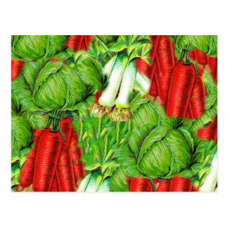 Diseño de Veg del collage de las zanahorias y del Postales