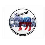 Diseño de Vermont Obama Demócrata Tarjetas Postales