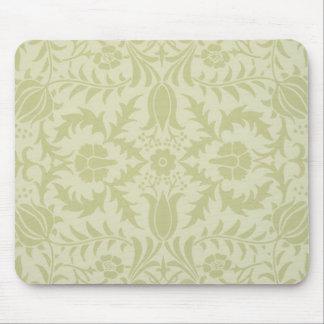 Diseño de William Morris del vintage del papel pin Tapetes De Ratones