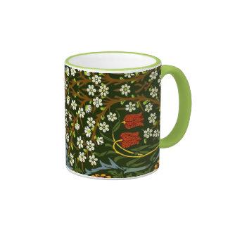 Diseño de William Morris, diseño del endrino Taza De Dos Colores