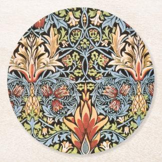Diseño de William Morris Snakeshead Posavasos Desechable Redondo