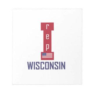 Diseño de Wisconsin Bloc De Notas