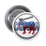 Diseño de Wisconsin Obama Demócrata Pin