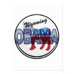 Diseño de Wyoming Obama Demócrata Tarjeta Postal
