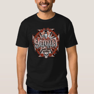 Diseño de Yaqui en los t negros Remera