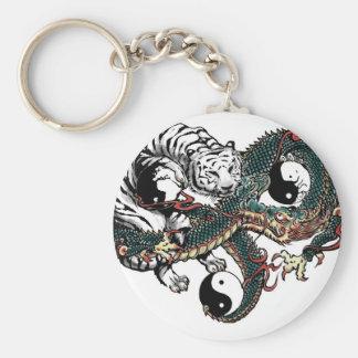 Diseño de Yin Yang Llavero Redondo Tipo Pin