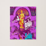 Diseño decorativo abstracto femenino rosado de la  puzzle