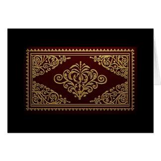 Diseño decorativo antiguo de la encuadernación tarjetón