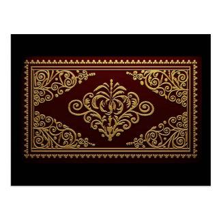 Diseño decorativo antiguo de la encuadernación tarjeta postal