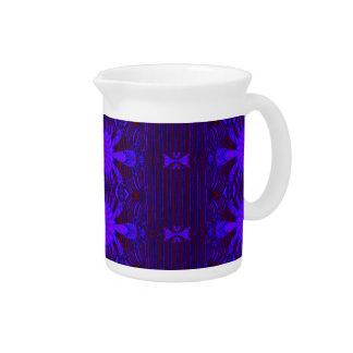 diseño decorativo azul marino jarras de beber