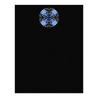 Diseño decorativo complejo Negro y azul Membrete Personalizado