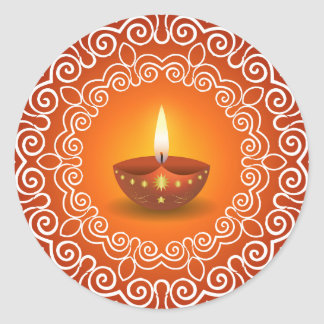 Diseño decorativo de Diwali Pegatina Redonda