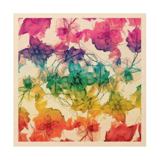Diseño decorativo de los remolinos florales cuadro de madera