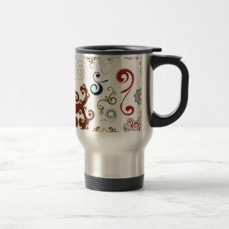 Diseño decorativo de los remolinos taza de viaje de acero inoxidable