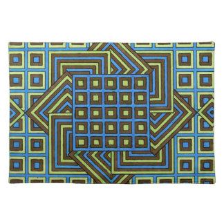 Diseño decorativo de Placemats - de Geomatrical Mantel Individual