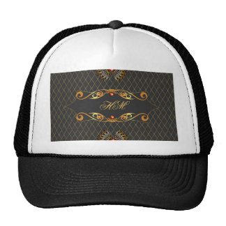 Diseño decorativo elegante gorras