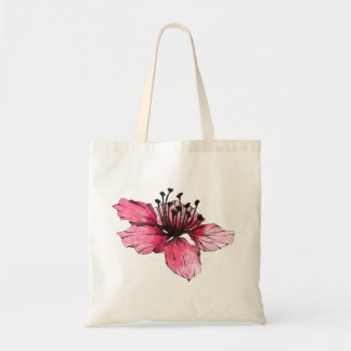 Diseño decorativo floral colorido bonito de la bolsa tela barata