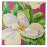 Diseño decorativo floral de la teja del arte de la