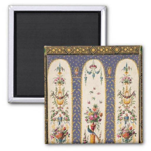 Diseño decorativo para un cenador o una logia del  imán cuadrado