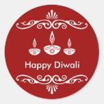 Diseño decorativo personalizado de Diwali Pegatina Redonda
