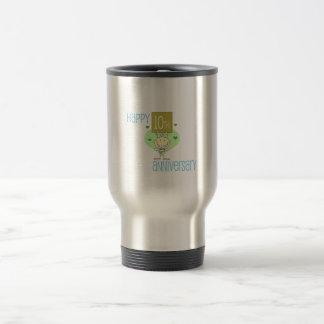 """Diseño del """"10mo aniversario feliz"""" taza"""