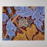 Diseño del Acanthus de William Morris del vintage Poster