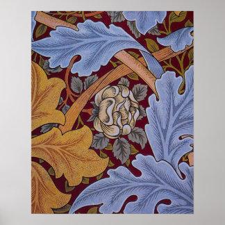 Diseño del Acanthus de William Morris del vintage Posters
