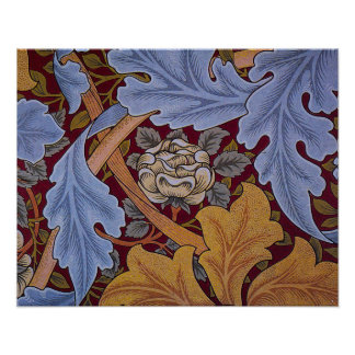Diseño del Acanthus de William Morris del vintage Póster