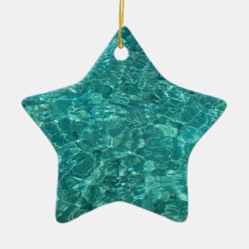 Diseño del agua de la playa por Admiro Adorno Navideño De Cerámica En Forma De Estrella