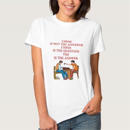 diseño del ajedrez camiseta