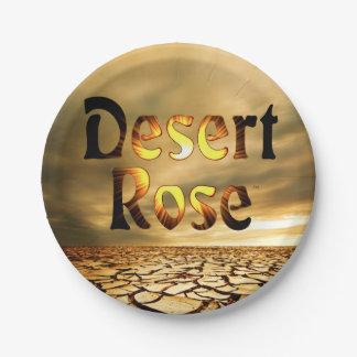 Diseño del álbum del rosa de desierto plato de papel de 7 pulgadas