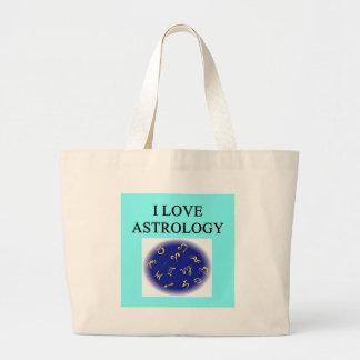 diseño del amante de la astrología bolsa tela grande