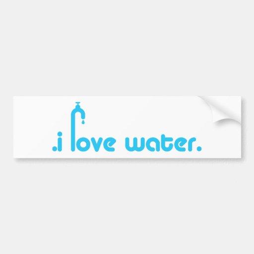 ¡Diseño del amante del agua! Pegatina De Parachoque