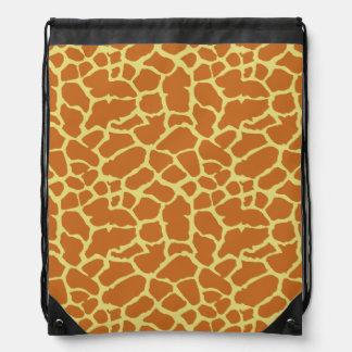 Diseño del amarillo anaranjado del estampado de an mochila