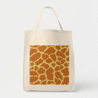 Diseño del amarillo anaranjado del estampado de bolsas