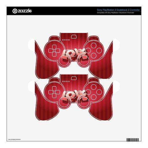 diseño del amor 3D Mando PS3 Calcomanía