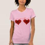Diseño del amor de la idea del hombre del corazón camiseta