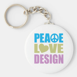 Diseño del amor de la paz llavero personalizado