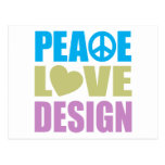 Diseño del amor de la paz postal