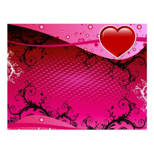 Diseño del amor del corazón tarjeta postal