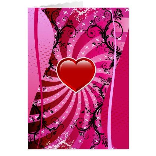 Diseño del amor del corazón tarjetas