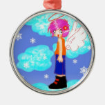 diseño del ángel de la nieve ornatos