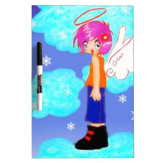 diseño del ángel de la nieve tableros blancos
