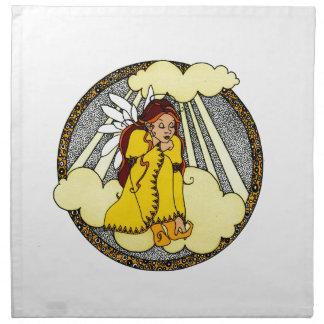 Diseño del ángel de las reflexiones servilleta de papel