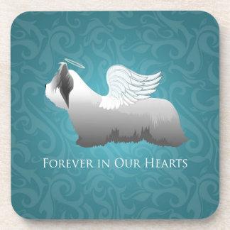 Diseño del ángel de Skye Terrier Posavaso