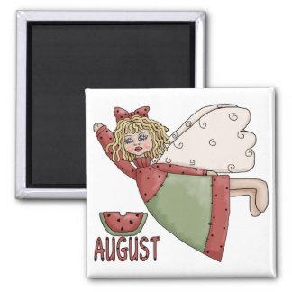 Diseño del ángel del país de agosto imán cuadrado